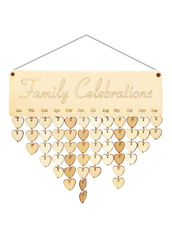 Buy Wooden Family Celebration Calendar Reminder