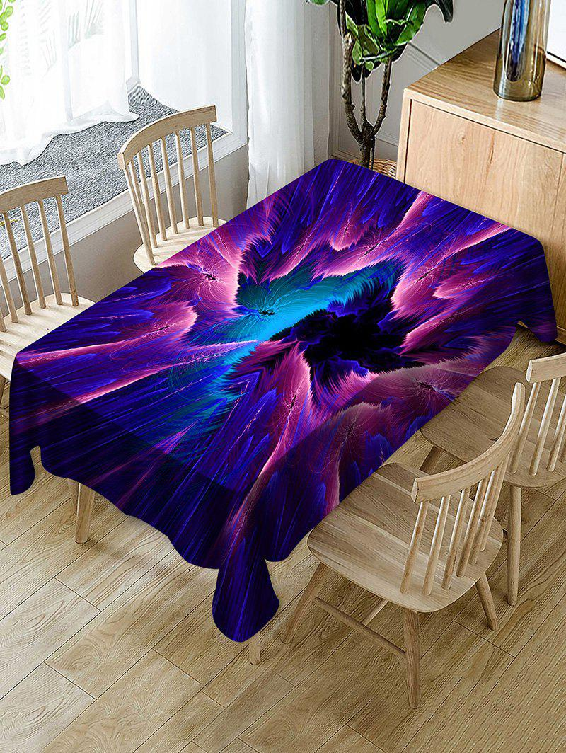 Trendy Abstract Galaxy Print Fabric Waterproof Tablecloth