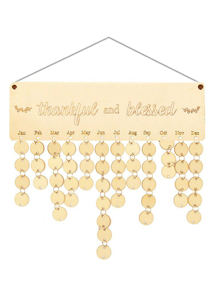 Discount Wooden Thankful and Blessed Calendar Board