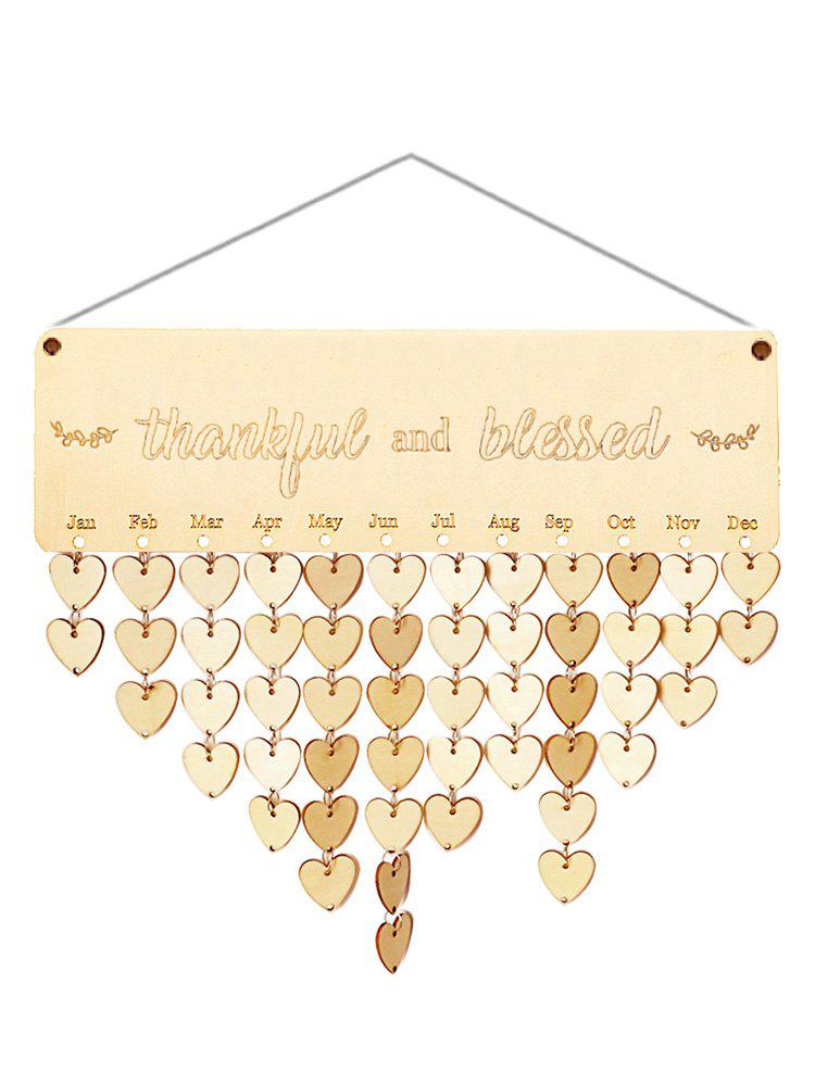 Online Wooden Thankful and Blessed Calendar Board