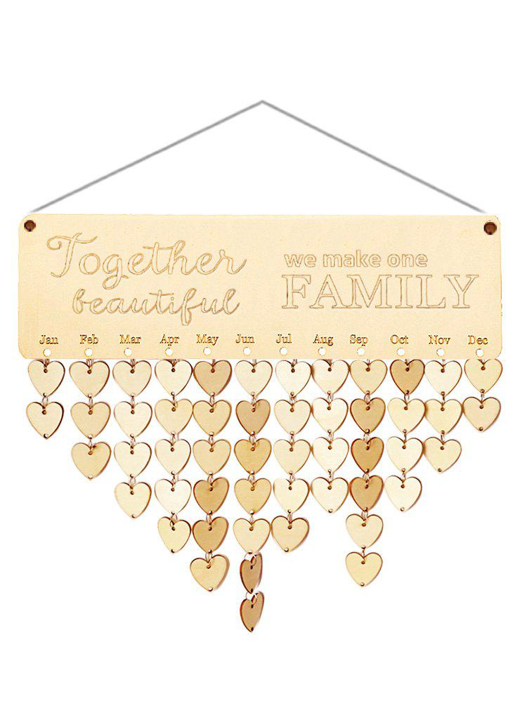 Discount Wooden We Make One Family Calendar Reminder