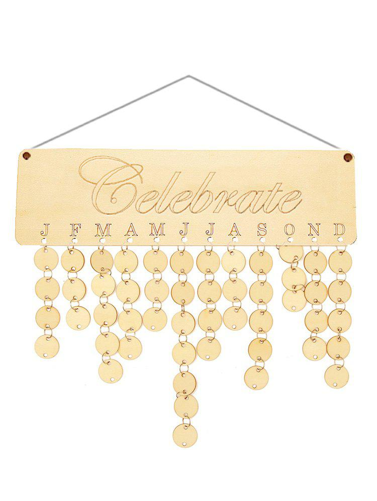 Outfits Wooden Celebrate Calendar Board