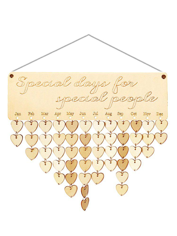 Best Wooden Special People Calendar Reminder