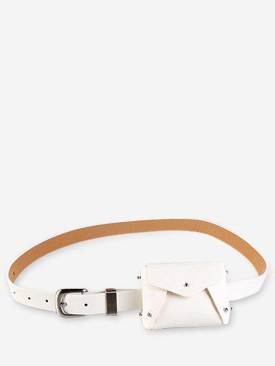 Online Mini Solid Color Rivet Waist Bag