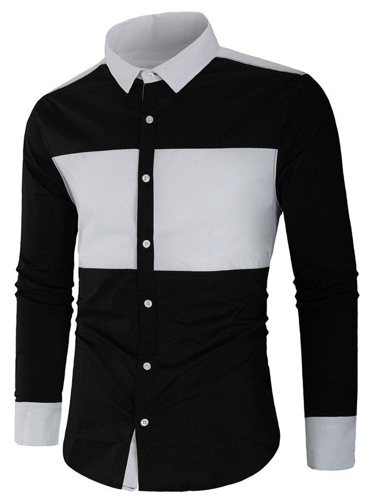 Best Color Block Long Sleeve Shirt