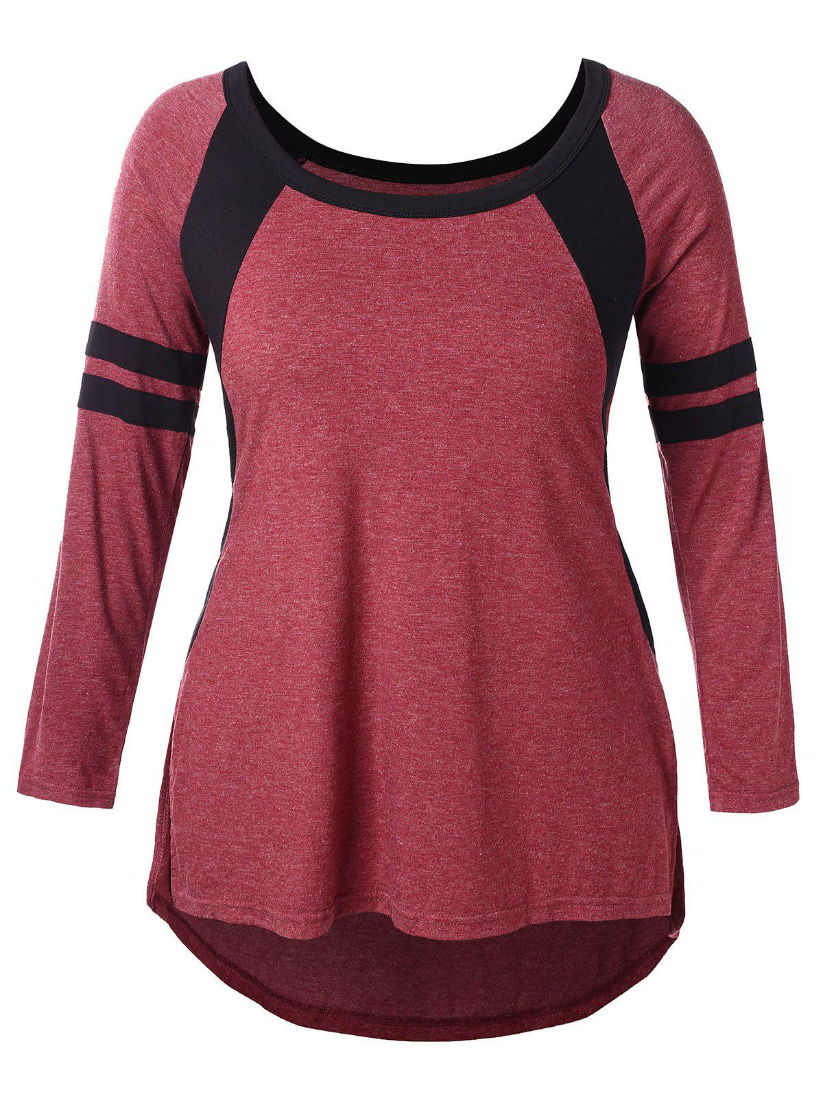 Outfit Two Tone Plus Size Round Neck T-shirt