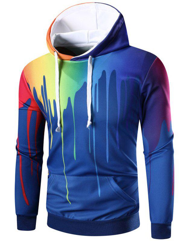 Latest Rainbow Paint Kangaroo Pocket Hoodie