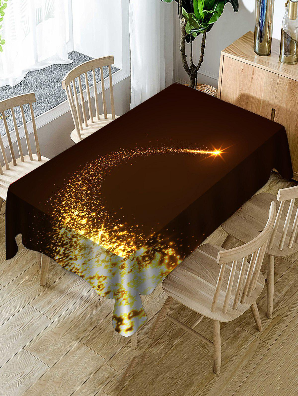 Sale Christmas Starlight Print Fabric Waterproof Tablecloth