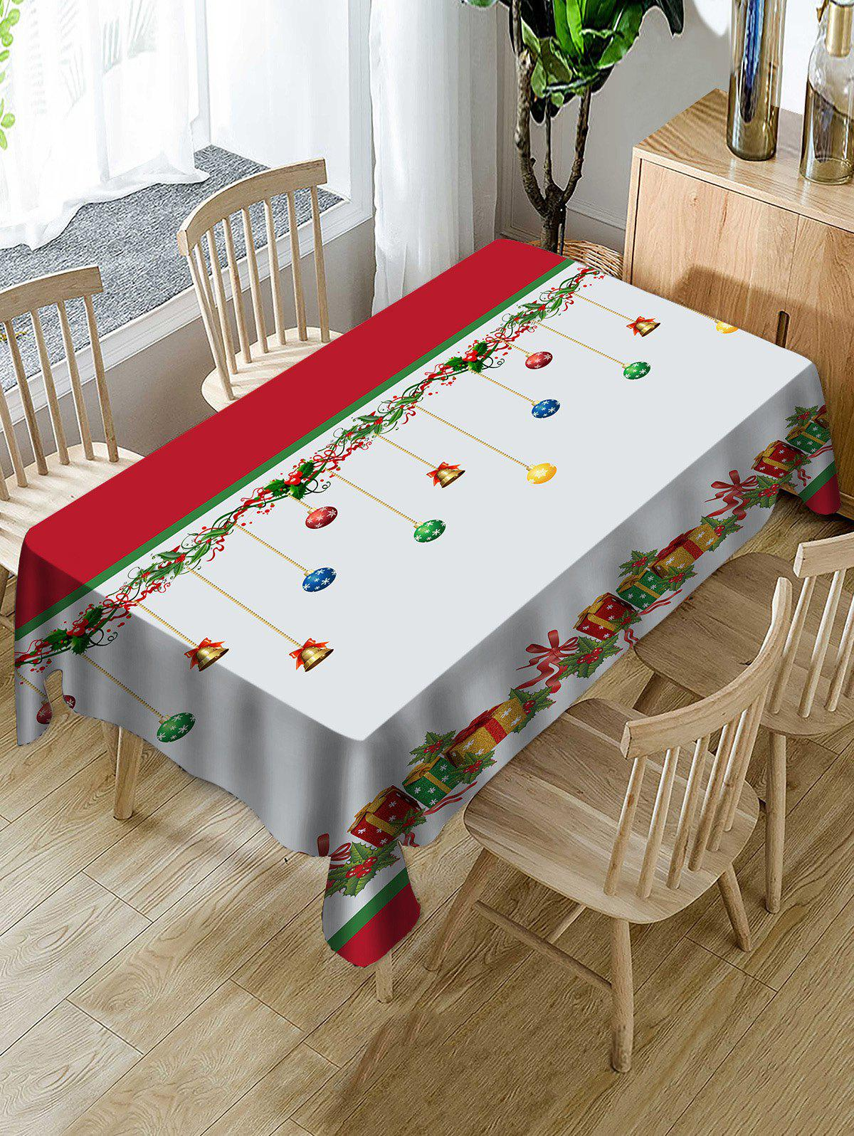 Buy Christmas Gifts Print Fabric Waterproof Tablecloth