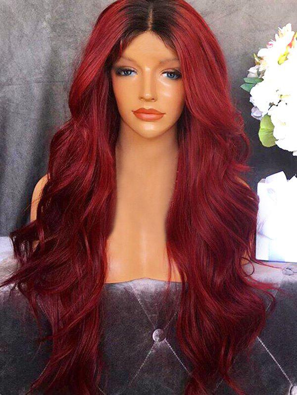 Outfits Long Center Parting Ombre Wavy Synthetic Party Wig