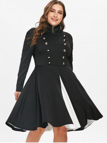 b32cbdd15911f3 Breasted Long Sleeve Dress - Free Shipping, Discount And Cheap Sale ...