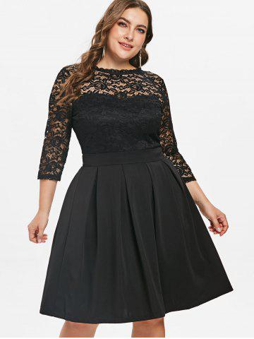 Plus Size A Line Dresses Lace And Black Cheap With Free Shipping