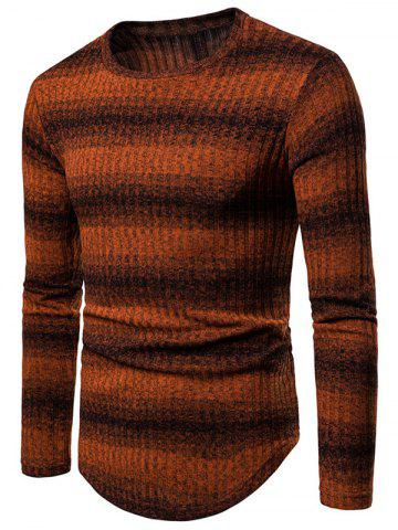 Striped Round Neck Casual Sweater
