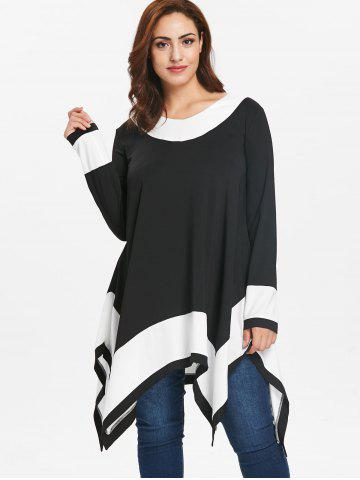 0eda08cfd95 Plus Size Long Sleeve Tops | Cheap White And Black Plus Size Long ...