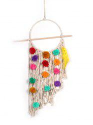 Pom Pom Handmade Macrame Wall Hanging Decoration -