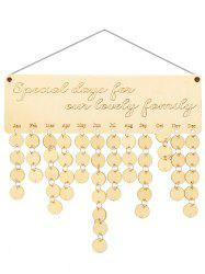 Wooden Lovely Family Calendar Reminder -