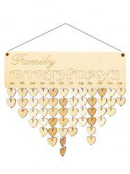 Wooden Family Birthday Calendar Reminder -