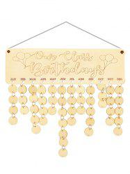Wooden Our Class Birthday Calendar Reminder -