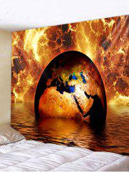 Wall Hanging Art Fire and Water Earth Print Tapestry -