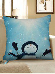 Christmas Snowman Decorative Linen Pillow Case -