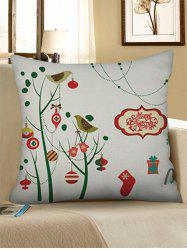 Christmas Decorations Print Pillow Case -