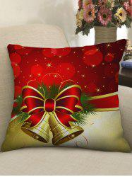 Christmas Decoration Bowknot Bell Printed Pillow Case -