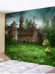 Forest Castle Print Wall Tapestry Art Decoration -
