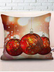 Christmas Balls Printed Throw Pillow Case -