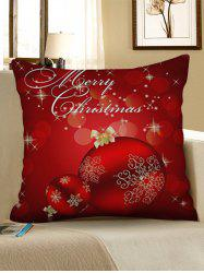 Christmas Snowflakes Baubles Pattern Throw Pillow Case -