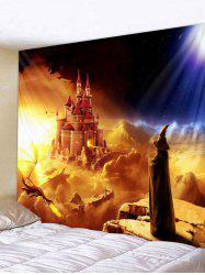 Halloween Wizard Castle Print Wall Tapestry Art Decoration -