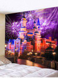 Fireworks Castle Print Wall Tapestry Art Decoration -
