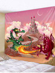 Dragon Castle Print Wall Tapestry Art Decoration -