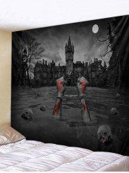 Halloween Skull Blood Printed Wall Tapestry Decoration -