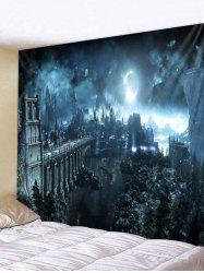 Halloween Night Print Wall Tapestry Decoration -