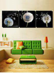 Dandelion Print Unframed Split Canvas Paintings -