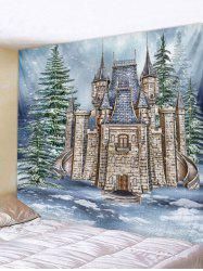 Christmas Castle Forest Wall Tapestry Art Decoration -