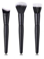 Professional Ultra Soft Fiber Hair Blush Foundation Cosmetic Brush Set -