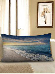 Beach Wave Print Decorative Sofa Linen Pillowcase -
