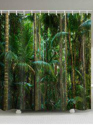 Tropical Forest Print Waterproof Bathroom Shower Curtain -