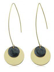 Round Shape Metal Earrings -