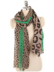 Leopard Print Lightweight Spring Fall Scarf -
