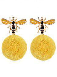 Boucles d'oreilles Flying Bee Fuzzy Ball -