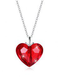 Romantic Crystal Heart Pendant Necklace -