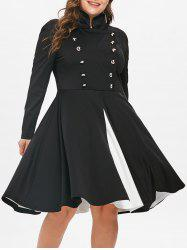 Plus Size Double Breasted Halloween Dress -