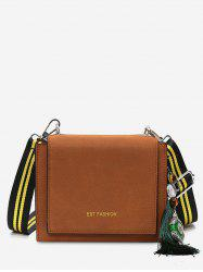 PU Leather Tassel Crossbody Bag -