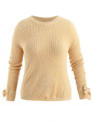Plus Size Tie Sleeve Sweater -