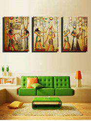 African Tribe Print Unframed Split Canvas Paintings -