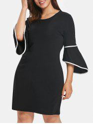 Plus Size Casual Knee Length Dress -