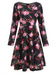 Sugar Skull Print Swing Dress -