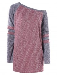 Color Block Tunic Knitwear -
